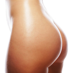 Beautiful buttocks of a nude woman.