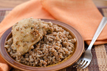 stewed buckwheat with chicken