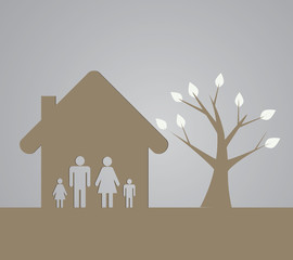 The family and tree