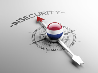 Netherlands Insecurity Concept.