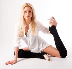 flexible athletic woman
