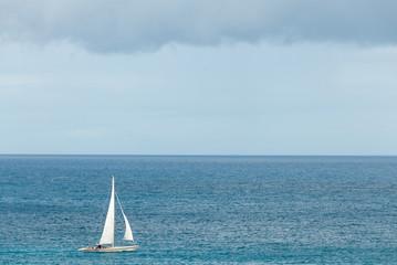 Sailing sloop in the Caribbean V