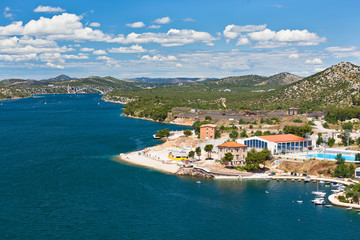 Krka river view from Sibenik town, Croatia
