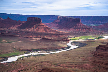 Colorado River professor valley overlook utah