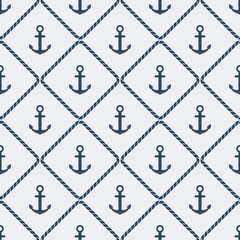 anchors seamless pattern