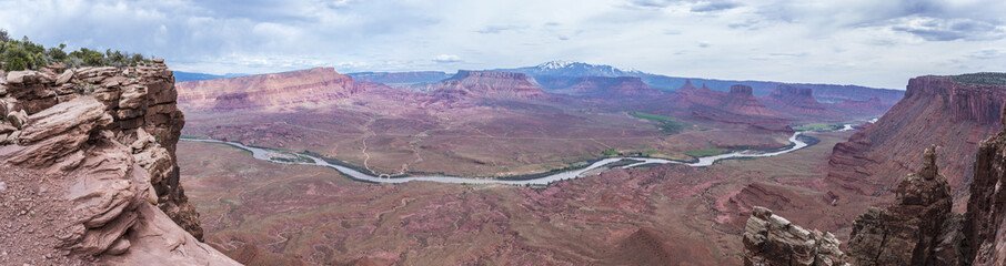 Panorama of the professor valley from the overlook utah