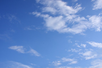 white cloud on blue sky