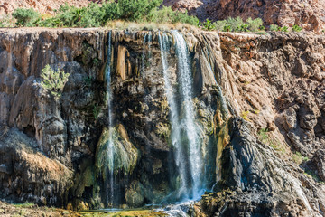 ma'in hot springs waterfall Jordan