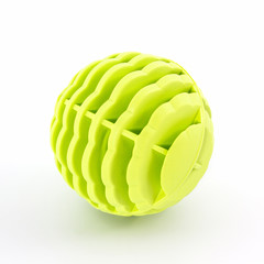 Yellow washing ball, plastic balls