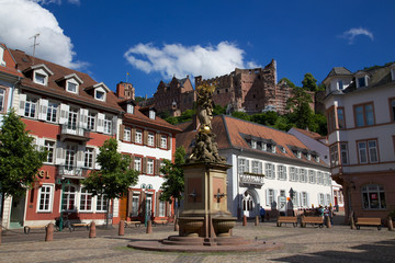 Heidelberg Kornmarkt und Schloss