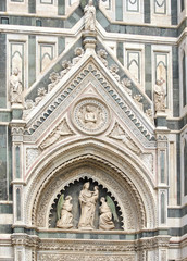 Detail of the Dome in Florence, Italy