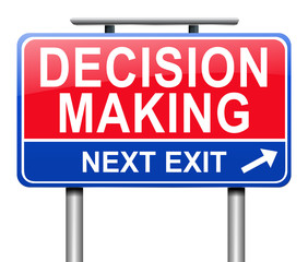 Decision making concept.