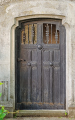Vintage door in a cemetery
