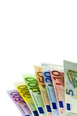 Eine Reihe von Euro-Geldscheinen