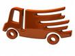 Orange fast delivery icon