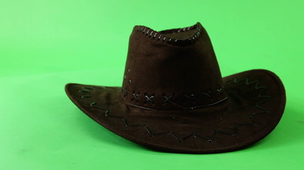 cowboy hat turning on green screen