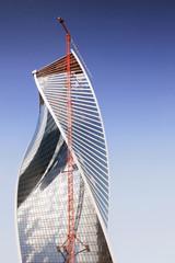 Construction of modern business center