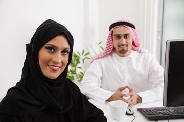 Arabic business couple