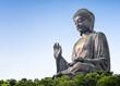 Leinwanddruck Bild - Tian Tan Buddha in Lantau