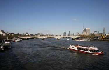 London skyline, seen from Hungerford Bridge