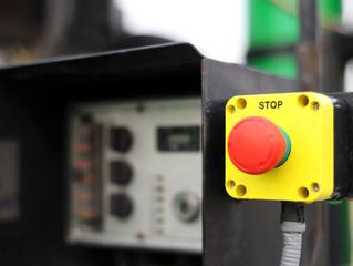 Stop aus halt Maschine