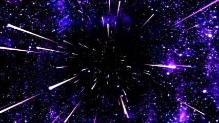 Space Travel Animation - Loop Purple