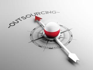 Poland  Outsourcing Concept.