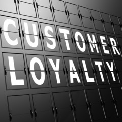 Airport display customer loyalty