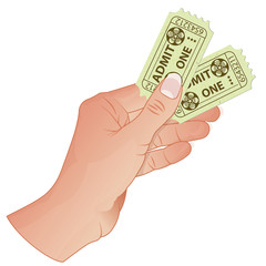 Hand with Cinema Tickets