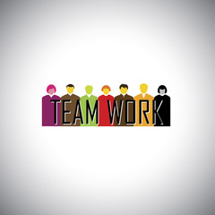 corporate executives or employees together - teamwork concept ve
