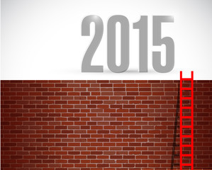 ladder to year 2015. illustration design