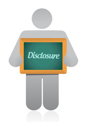 disclosure sign illustration design