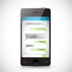 gossip text message chat. illustration design