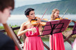 Girls plays violin