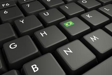 bandiera brasile su bottone tastiera v2