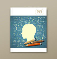 Cover Magazine Sketch hand drawn science icons