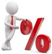 Männchen mit Prozentsymbol