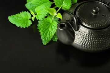 Chinese style tea with mint