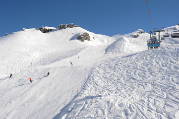 Sci slope and cableway of Engelberg