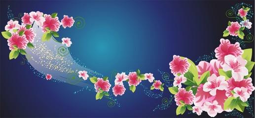 Tło z kwiatami,