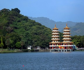 The Dragon and Tiger Pagodas in Taiwan