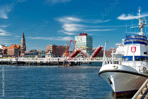 Foto Spatwand Poort Landeshauptstadt Kiel an der Hörn mit Klappenbrücke - 0442
