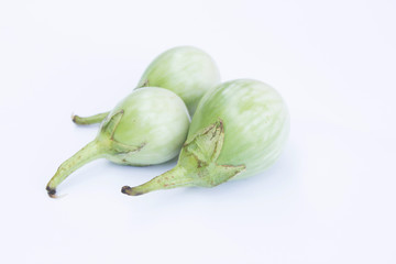 Thai Small Eggplant On White Background