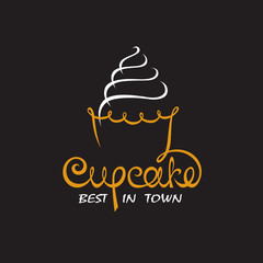 background with cupcake