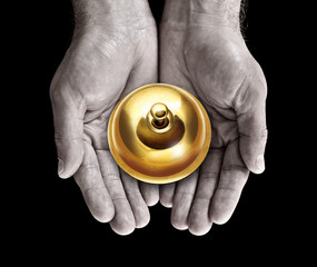 service bell in hands