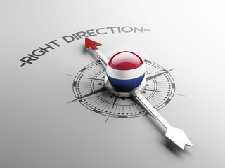 Netherlands Right Direction Concept