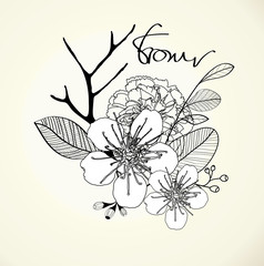 Decorative floral background Vector, EPS 10