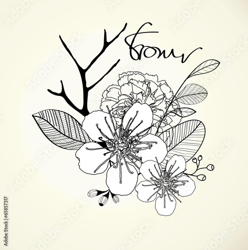 Decorative floral background Vector, EPS 10 © anat_tikker