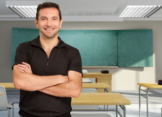 Smiling friendly teacher