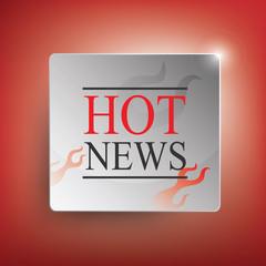 Hot News  vector illustration